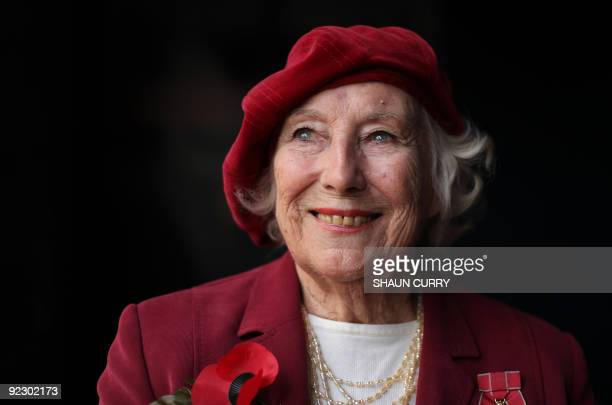 Forces sweetheart Dame Vera Lynn poses for photographs in central London on October 22 2009 Forces sweetheart Dame Vera Lynn on Thursday joined...