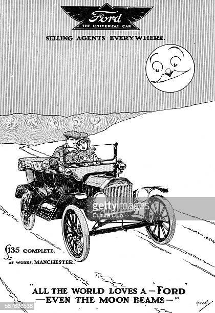 All the world loves a Ford even the moon beams Ford Motor Company manufacturer of automobiles in the United States founded by Henry Ford in 1903