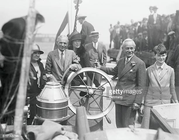 Ford at Wheel Of Mission Ship. And who could better act as skipper of a mission ship than Henry Ford, the motor magnate? Prior to the sailing of the...