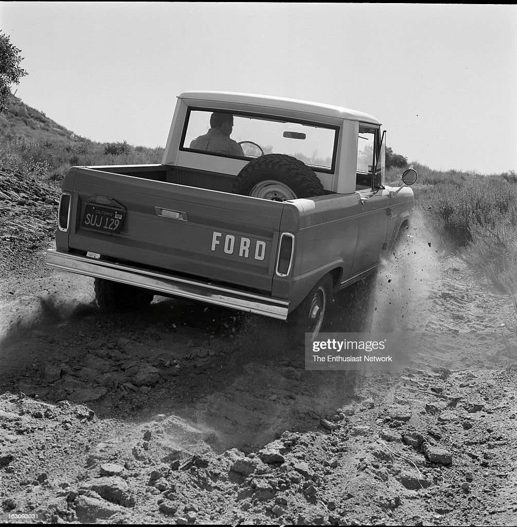 Ford Bronco Pickup Test. Ford's Bronco with it's standard 6-cylinder engine is quite capable of unseating an unstrapped rider in some what less than the standard rodeo time of eight seconds. But now with an optional 200-hp, 289-cubic inch V-8, it packes the violence of a Brahman bull.