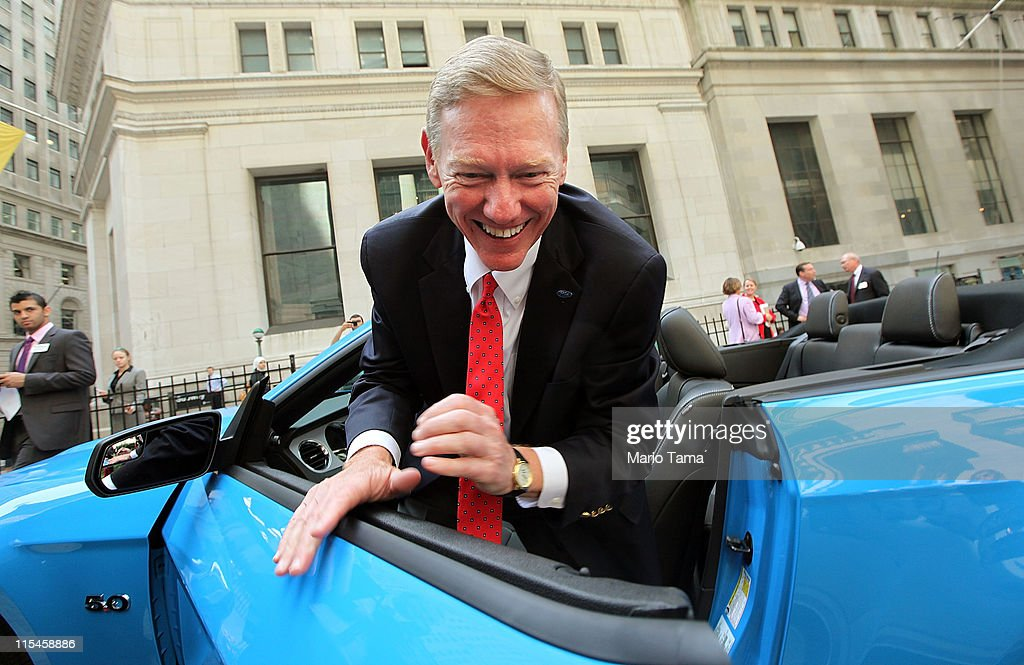 Ford CEO Alan Mulally Rings The Opening Bell At New York Stock Exchange
