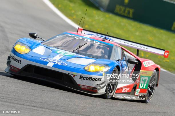 Ford Chip Ganassi Racing Ford GT race car of Andy Priaulx and Harry Tinckenell driving on track during the 6 Hours of Spa-Francorchamps race, the...