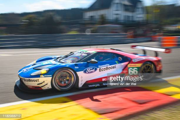 Ford Chip Ganassi Racing Ford GT race car of Stefan Mücke and Olivier Pla driving on track during the 6 Hours of Spa-Francorchamps race, the second...