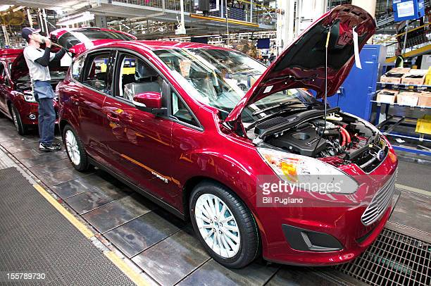 Ford CMAX hybrid vehicle goes through assembly at the Michigan Assembly Plant November 8 2012 in Wayne Michigan The plant is the only one in the...