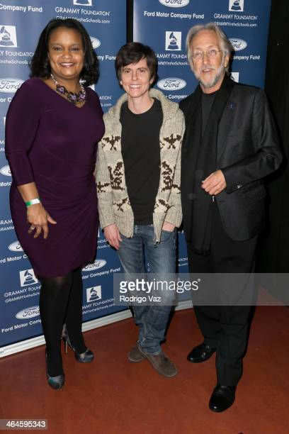 Ford Community Fund's Director of Community Development Pamela Alexander comedian Tig Notaro and Grammy Foundation President and CEO Neil Portnow...