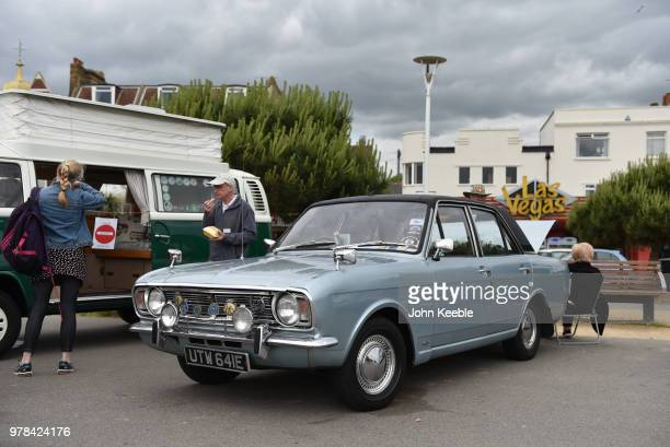 Ford Cortina Mk2 on display during the Southend Classic Car Show along the seafront on June 17 2018 in Southend on Sea England