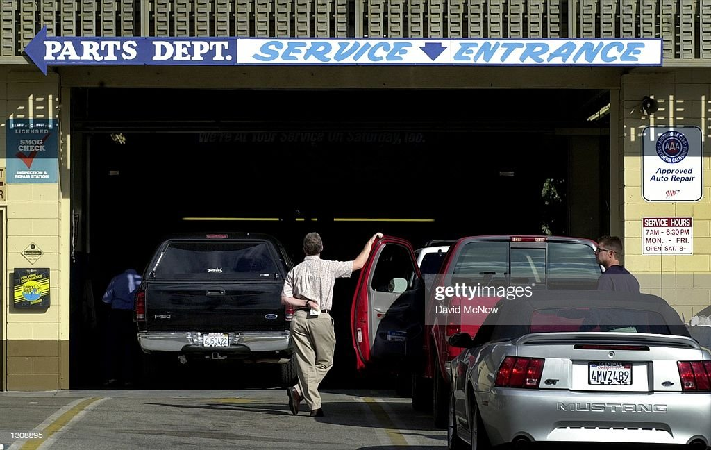 A Ford Dealership Service Department In Glendale CA Which Has Been Kept Busy With The