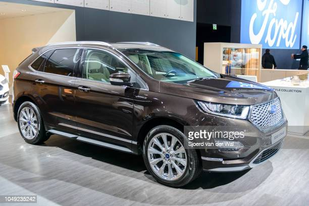Ford Edge vignale midsize crossover luxury suv front view on display at Brussels Expo on January 13 2017 in Brussels Belgium The Ford Edge or Ford...