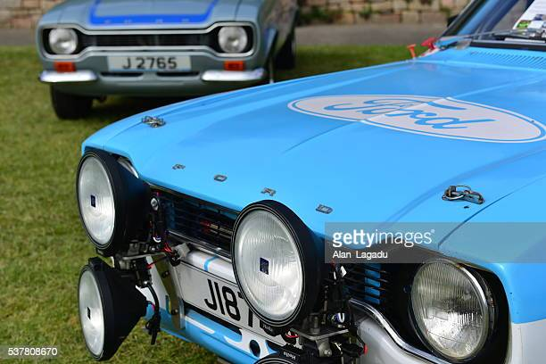 ford escort mk 1, u.k. - rally car stock photos and pictures