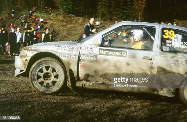 Ford Escort wrc driven by Marcus Dodd in 1998 Network Q rally 2000