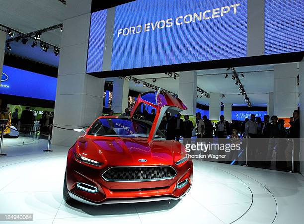 Ford Evos concept car is pictured during the press days at the IAA Frankfurt Auto Show on September 14 2011 in Frankfurt am Main Germany The IAA will...