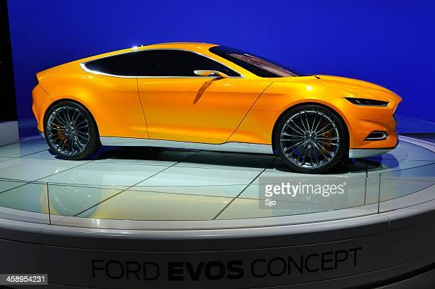 ford evos concept - motor show stock pictures, royalty-free photos & images