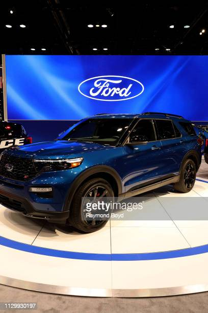 Ford Explorer is on display at the 111th Annual Chicago Auto Show at McCormick Place in Chicago, Illinois on February 7, 2019.