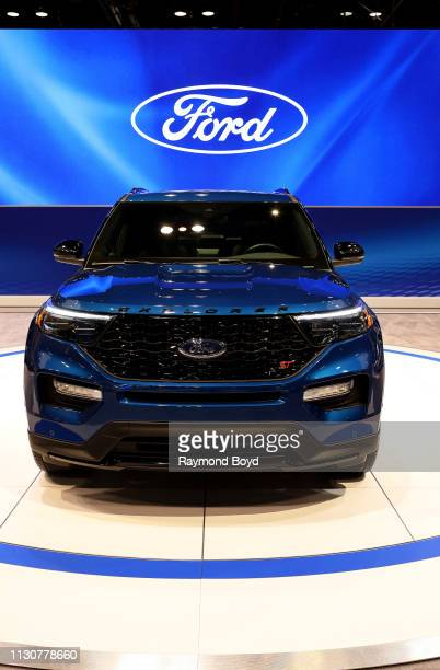 Ford Explorer is on display at the 111th Annual Chicago Auto Show at McCormick Place in Chicago, Illinois on February 8, 2019.