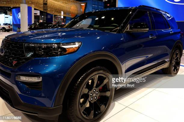 Ford Explorer is on display at the 111th Annual Chicago Auto Show at McCormick Place in Chicago Illinois on February 8 2019