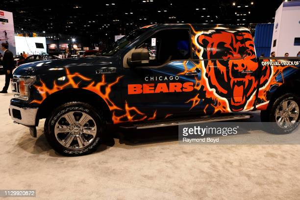 Ford F150 Chicago Bears Edition is on display at the 111th Annual Chicago Auto Show at McCormick Place in Chicago Illinois on February 7 2019