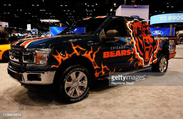 Ford F150 Chicago Bears Edition is on display at the 111th Annual Chicago Auto Show at McCormick Place in Chicago, Illinois on February 7, 2019.