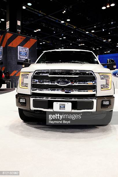 Ford F150 is on display at the 108th Annual Chicago Auto Show at McCormick Place in Chicago Illinois on February 12 2016