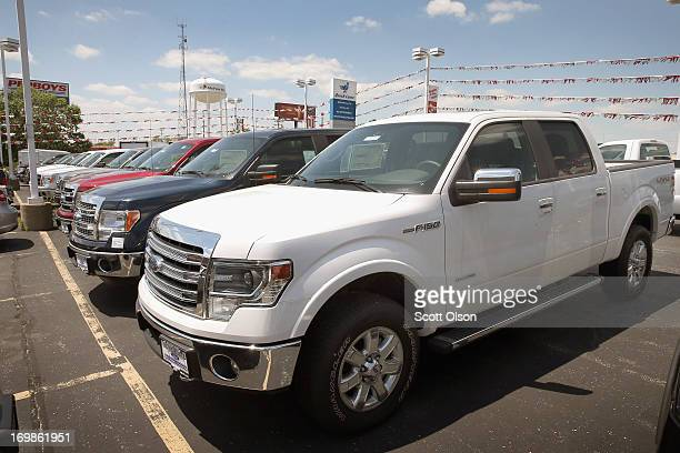 Ford F150 pickup truck is displayed at Al Piemonte Ford on June 3 2013 in Melrose Park Illinois Ford FSeries trucks posted a 31 percent increase in...
