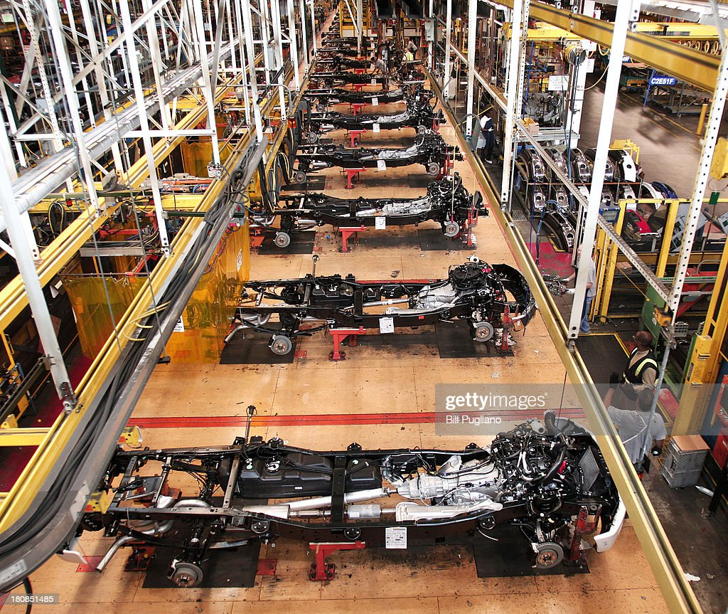 Ford F150 Truck Chassis Go Through Assembly At Fords Dearborn Plant September 16