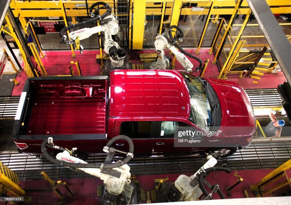 Ford F150 Truck Goes Through Quality Control On The Assembly Line At Fords Dearborn Plant