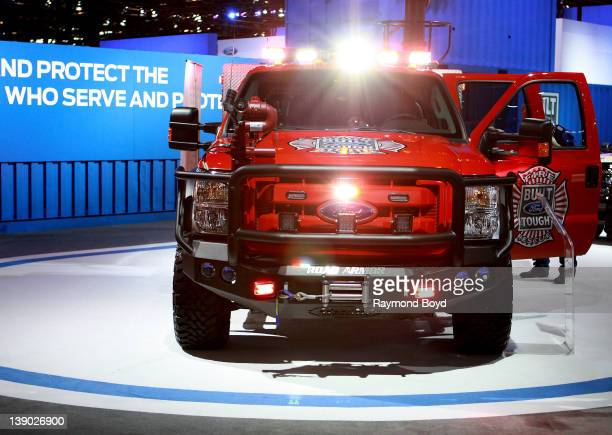 Ford F-550 Super Duty Truck, at the 104th Annual Chicago Auto Show at McCormick Place in Chicago, Illinois on FEBRUARY 09, 2012.