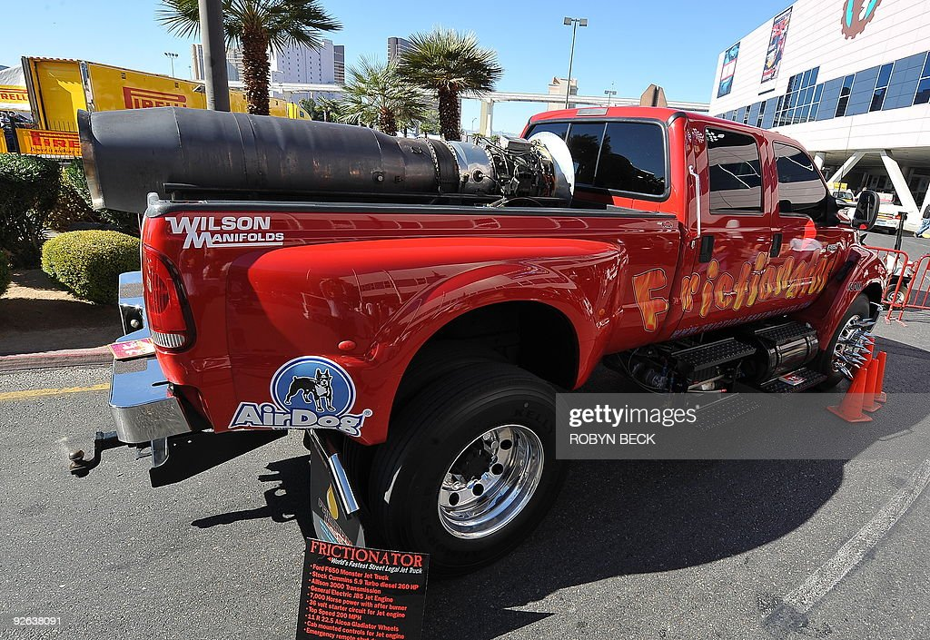 A Ford F650 Truck with a General Electric J85 Jet Engine in