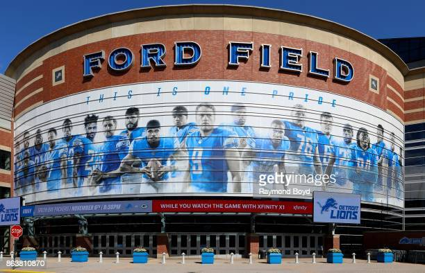 Ford Field home of the Detroit Lions football team in Detroit Michigan on October 13 2017
