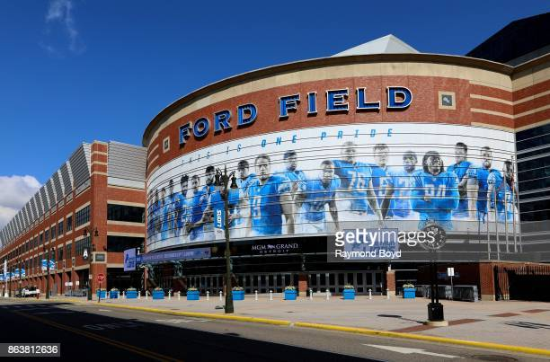 Ford Field, home of the Detroit Lions football team in Detroit, Michigan on October 13, 2017.