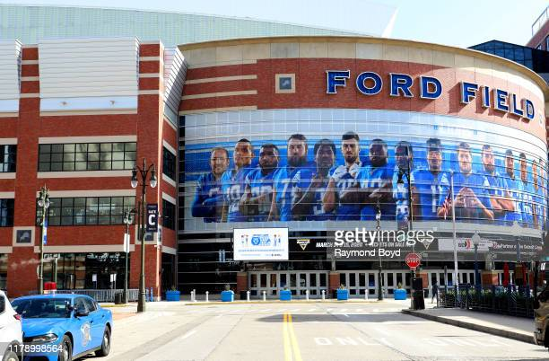 Ford Field, home of the Detroit Lions football team in Detroit, Michigan on September 27, 2019.