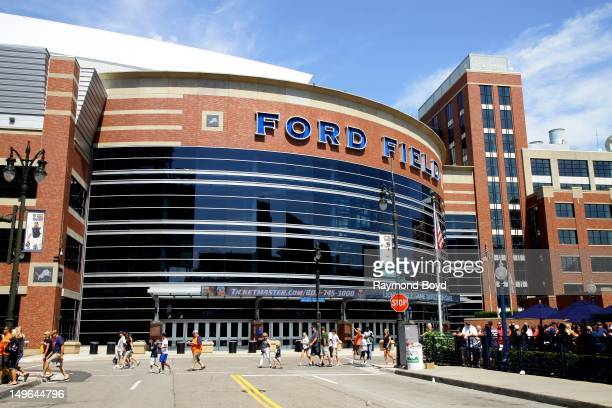 Ford Field, home of the Detroit Lions, in Detroit, Michigan on JULY 21, 2012.