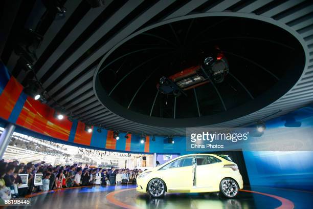 A Ford Fiesta car is displayed at the Auto Shanghai Exhibition 2009 at the Shanghai New International Expo Center on April 24 2009 in Shanghai China...