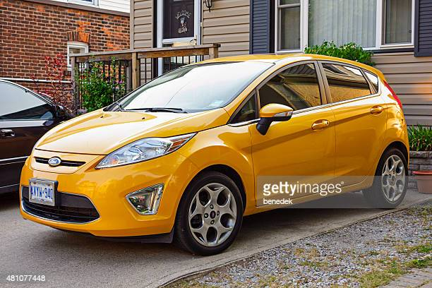 ford fiesta hatchback - compact car stock photos and pictures