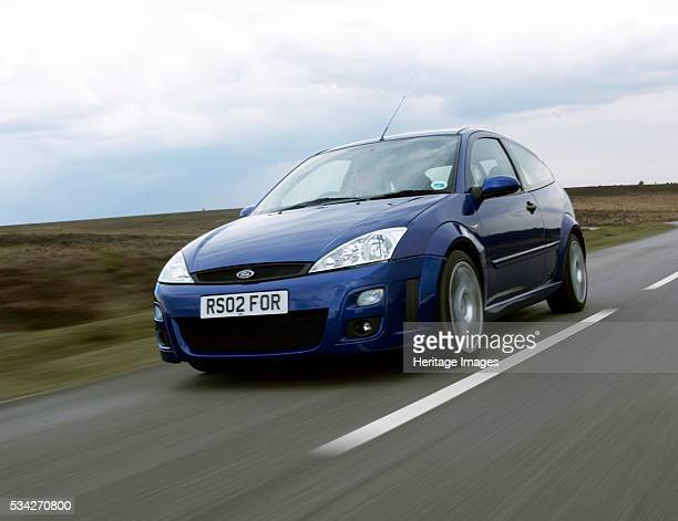 Ford Focus RS driving on country road 2000