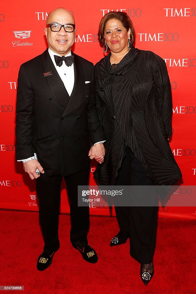 Ford Foundation President Darren Walker and actress Anna Deavere Smith attend the 2016 Time 100 Gala at Frederick P. Rose Hall, Jazz at Lincoln Center on April 26, 2016 in New York City.