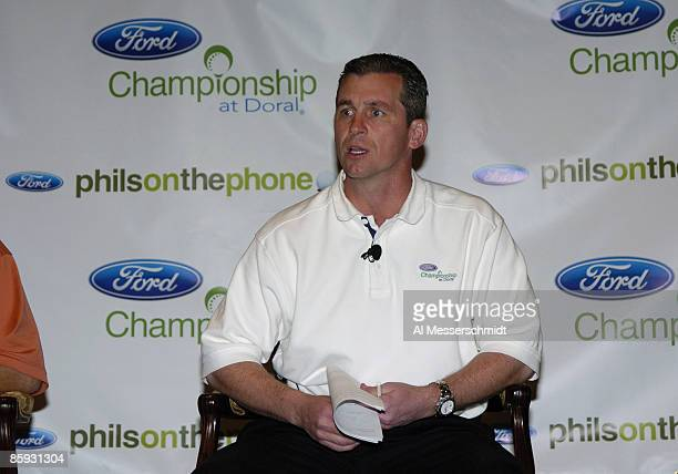 Ford general marketing manager Marty Collins attends a press conference to announce new plans for the 'Phil's on the Phone' promotion March 2 2005 at...
