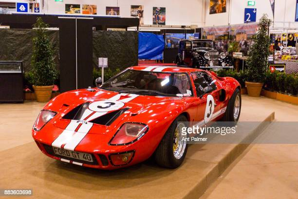 Ford GT 40 is displayed with other classic cars at the Essen Motor Show on December 1 2017 in Essen Germany The Essen Motor Show is celebrating its...