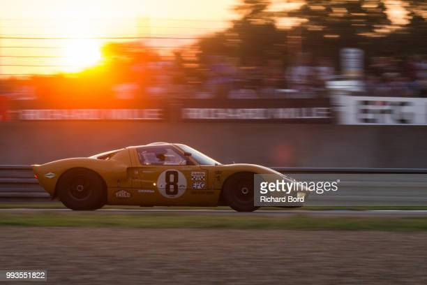 Ford GT 40 MK1 1965 competes during the Grid 4 Race 1 at Le Mans Classic 2018 on July 7 2018 in Le Mans France