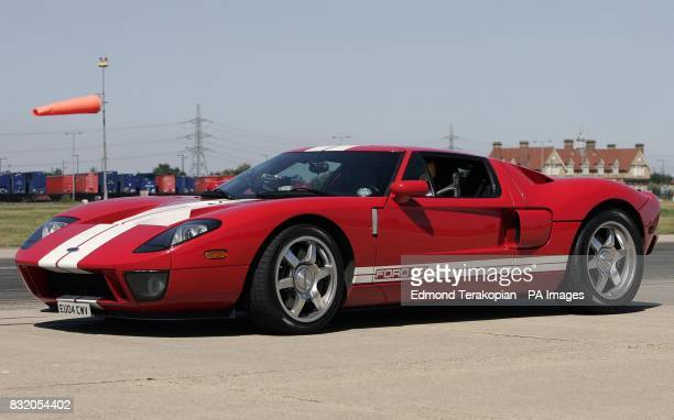 Ford GT, driven by Autocar's Editor at large, Steve Sutcliffe on the runway at London City Airport, where it reached a speed of 174mph in an attempt...