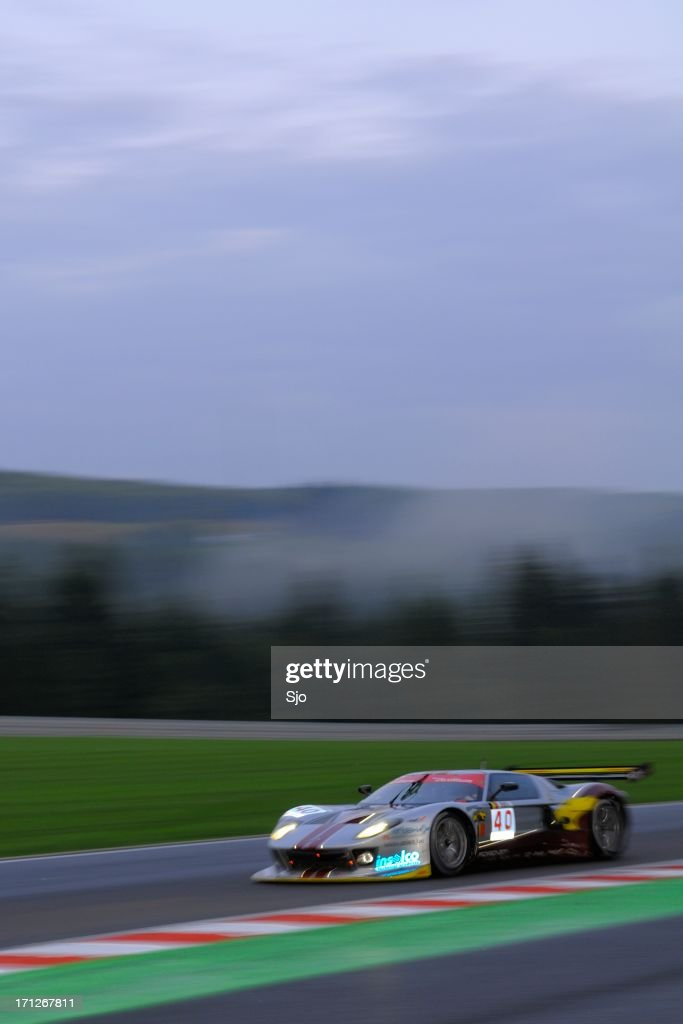 Ford GT GT1 race car at the race track : Stock Photo