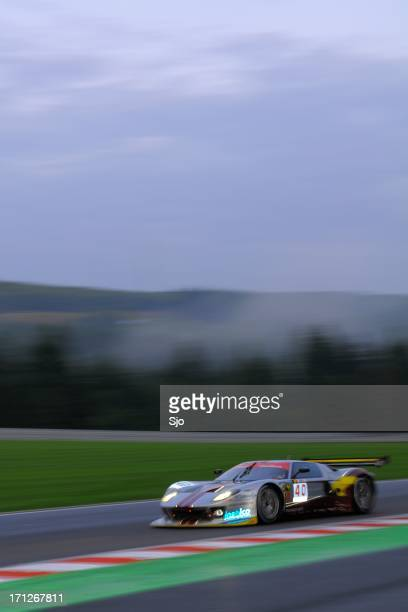 ford gt gt1 race car at the race track - ford gt stock photos and pictures