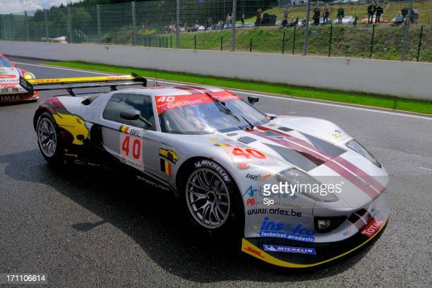 ford gt gt1 race car - ford gt stock pictures, royalty-free photos & images