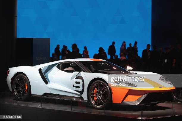Ford GT is displayed at the North American International Auto Show on January 14, 2019 in Detroit, Michigan. The show is open to the public from...