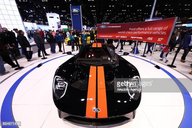 Ford GT is on display at the 109th Annual Chicago Auto Show at McCormick Place in Chicago, Illionis, USA on February 12, 2017.