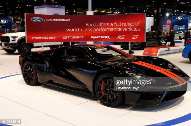 Ford GT is on display at the 109th Annual Chicago Auto Show at McCormick Place in Chicago Illinois on February 9 2017