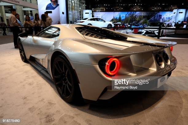 Ford GT is on display at the 110th Annual Chicago Auto Show at McCormick Place in Chicago Illinois on February 8 2018
