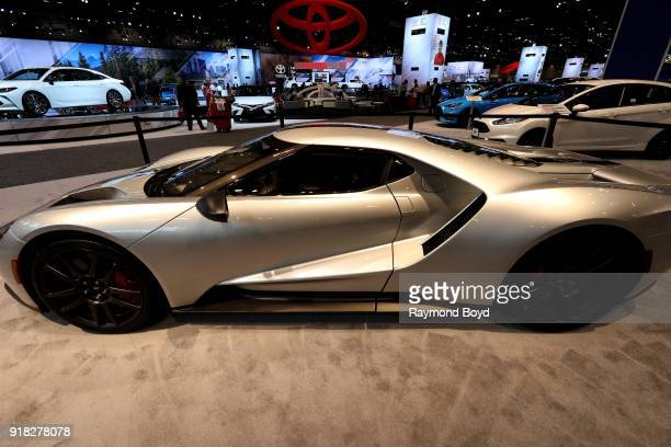 Ford GT is on display at the 110th Annual Chicago Auto Show at McCormick Place in Chicago, Illinois on February 8, 2018.