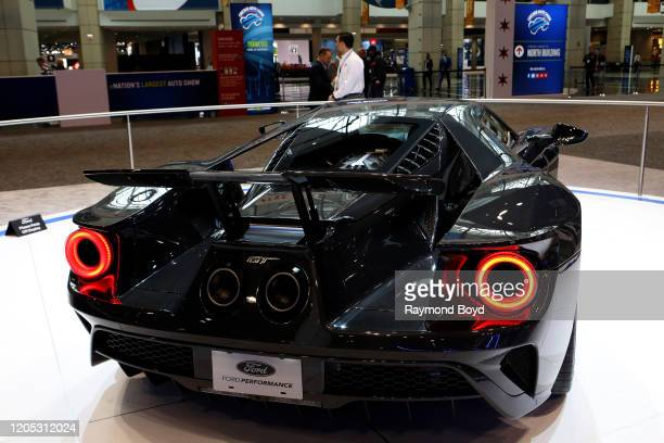 "Ford GT is on display at the 112th Annual Chicago Auto Show at McCormick Place in Chicago, Illinois on February 6, 2020. ""n"