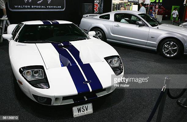 Ford GT is seen on display at the Big Boys Toys exhibition at the Auckland Showgrounds on November 11 2005 in Auckland New Zealand The exhibition...