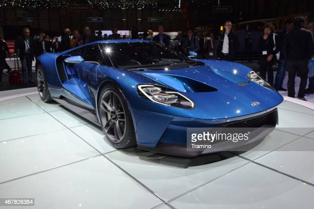 ford gt on the motor show - ford gt stock pictures, royalty-free photos & images
